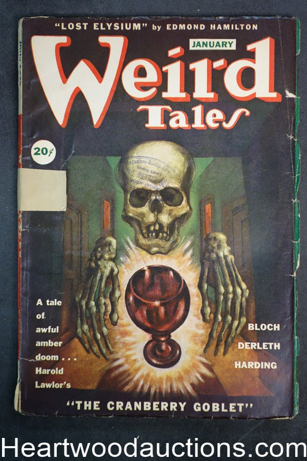 Weird Tales (Canadian) Jan 1946 Edmond Hamilton, H. P. Lovecraft poem