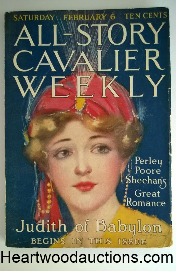 All Story Cavalier Weekly Feb 6, 1915 E.R. Burroughs - Sweetheart Primeval (3/4) - High Grade