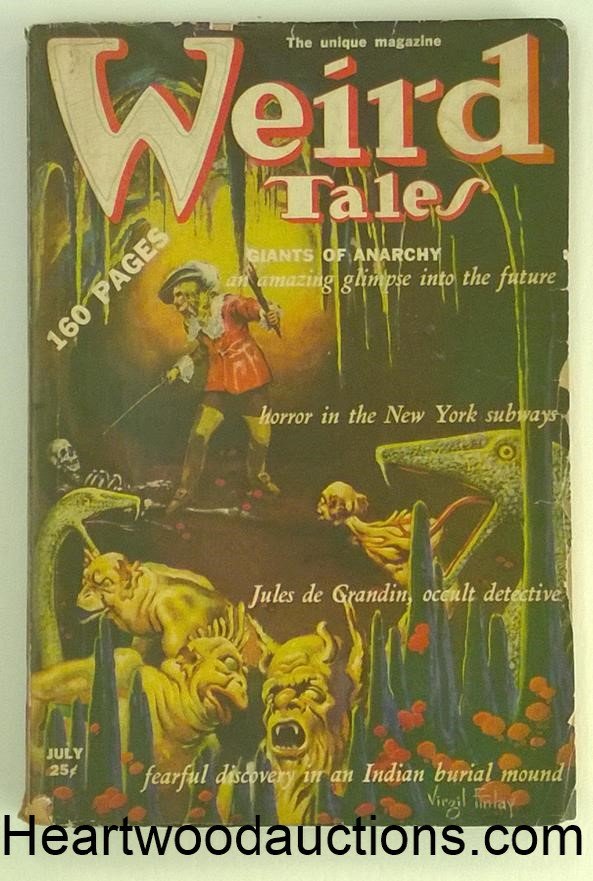 Weird Tales July 1939 Robert E. Howard - Almuric pt. 2; Virgil Finlay Cvr, Quinn; Cave