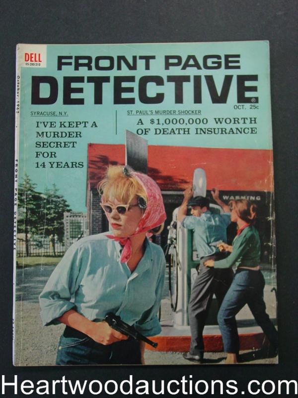 Front Page Detective Oct 1965 Bad Girl CVR