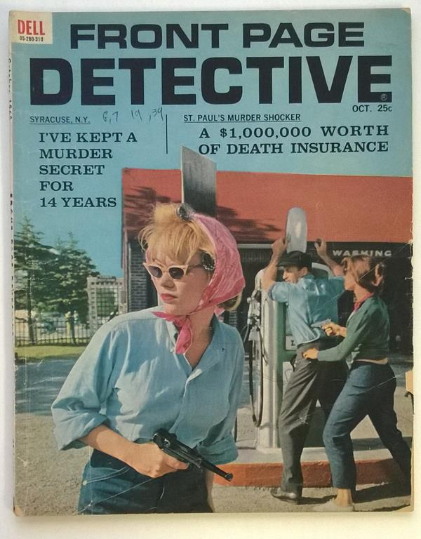 Front Page Detective Oct 1963 Bad Girl CVR