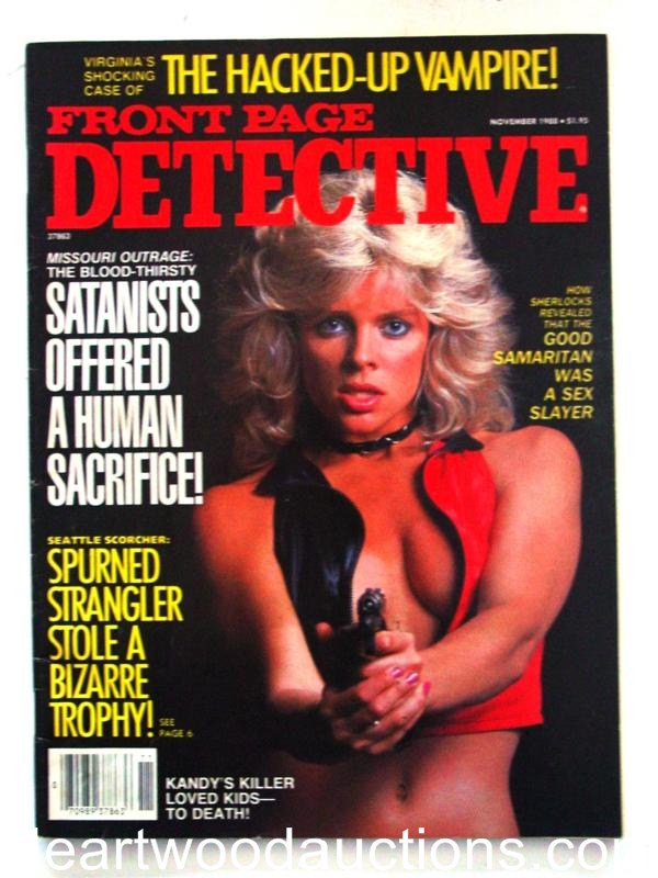 Front Page Detective Nov 1988 Leathe Bustier