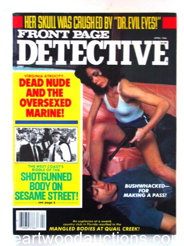 Front Page Detective Apr 1986 Bad Girl CVR