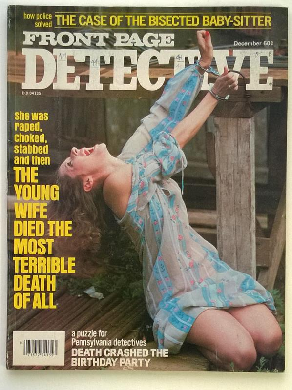 Front Page Detective Dec 1977   Bondage Handcuffs - High Grade