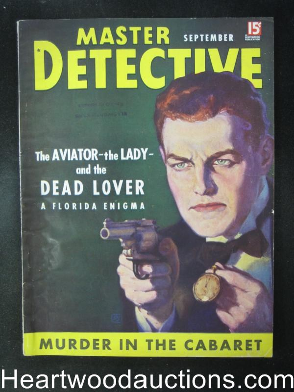 Master Detective September 1937  Arizona Train Robbers