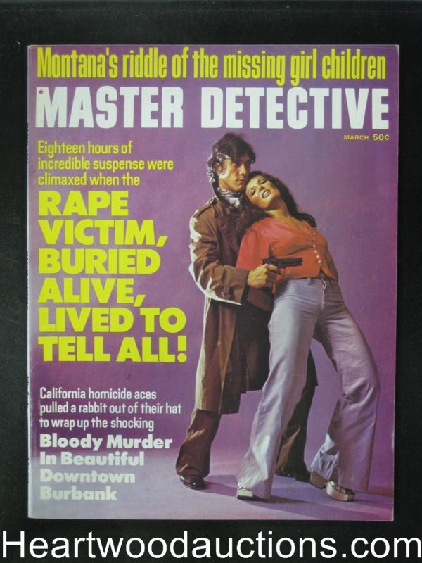 Master Detective Mar 1974 Hostage cover