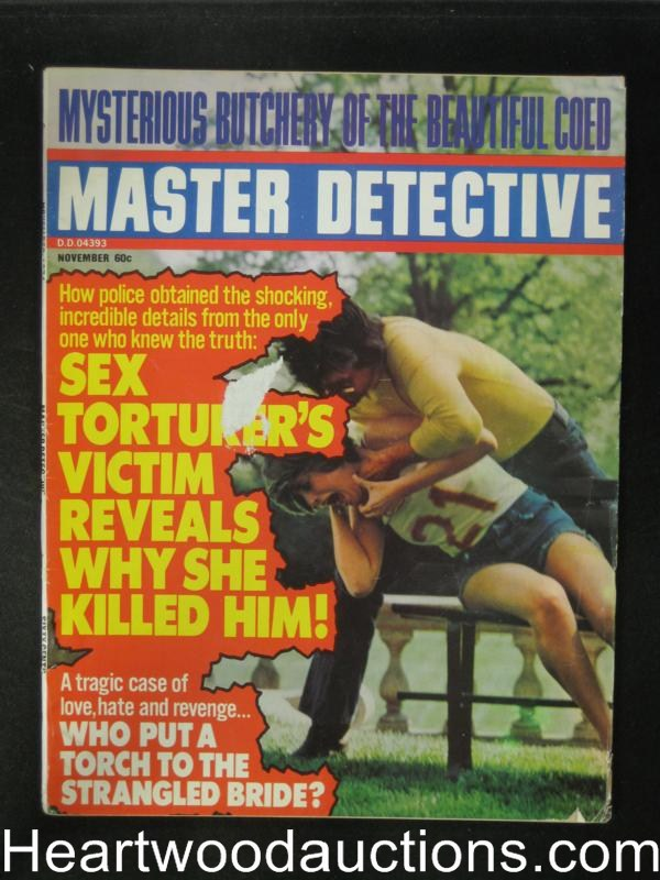Master Detective Nov 1974 Strangulation cover