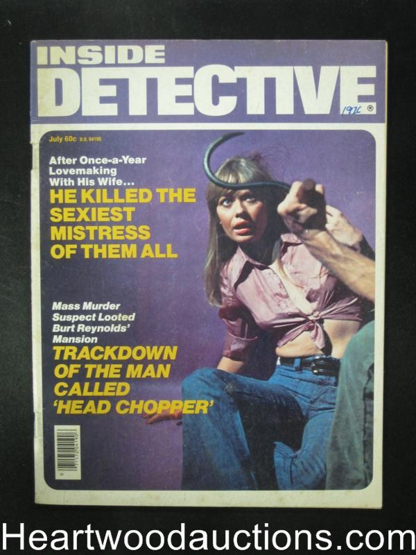 Inside Detective Jul 1976 Hook Attack Cover