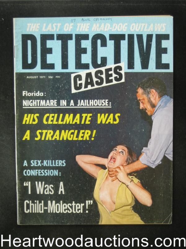 Detective Cases Aug 1971 Strangulation Cover