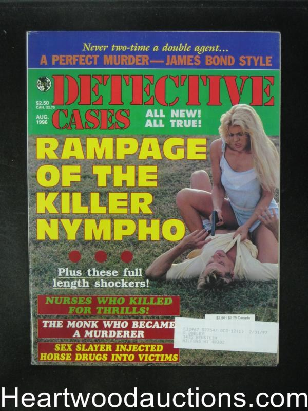 Detective Cases Aug 1996 Bad Girl Cover- High Grade