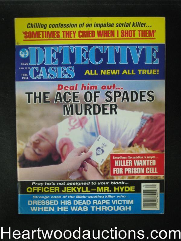 Detective Cases Feb 1994 Ace of Spades Muder- High Grade