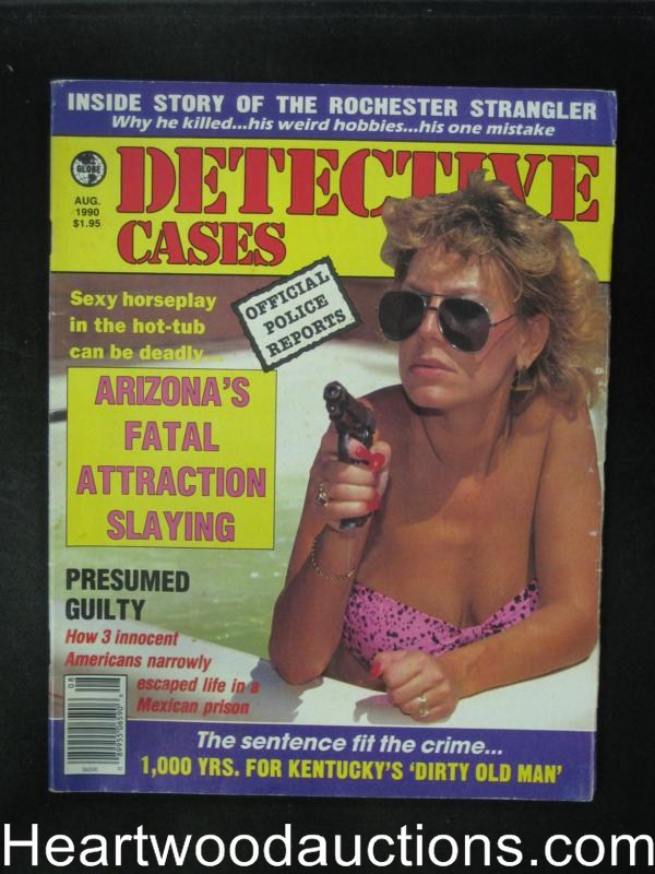 Detective Cases Aug 1990 Bad Girl Cover