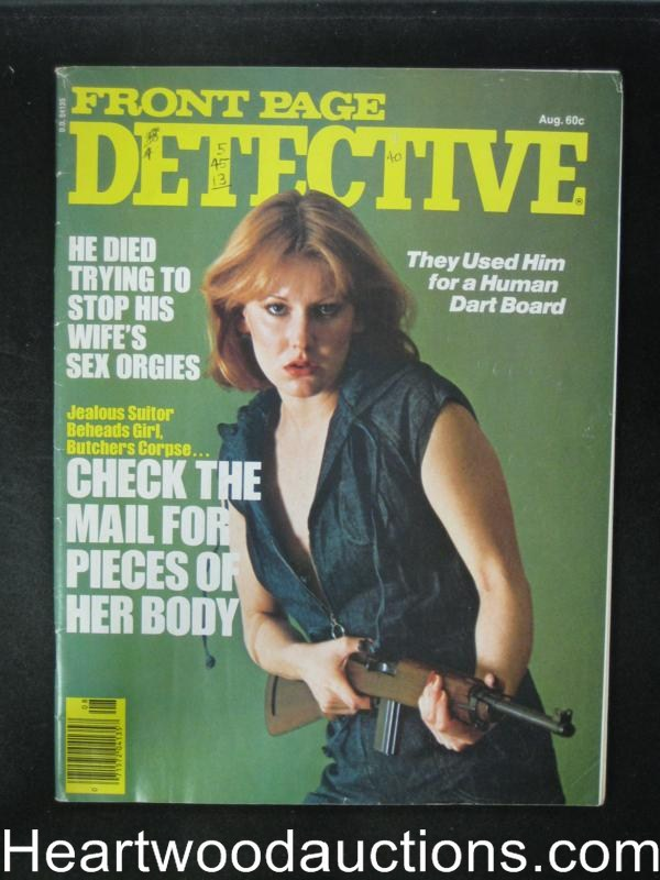 Front Page Detective Aug 1977 Bad Girl Cover