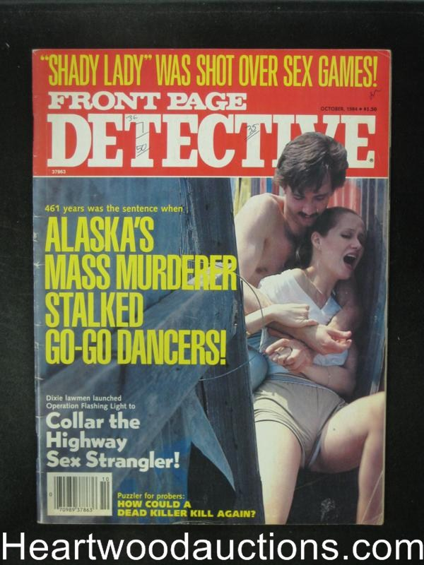 Front Page Detective Oct 1984 Assault Cover
