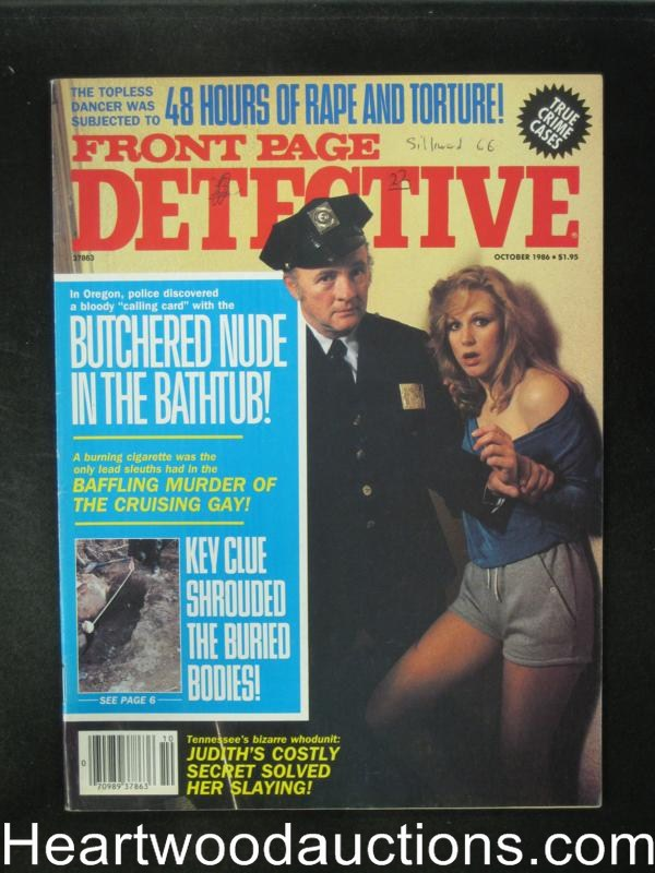 Front Page Detective Oct 1986- High Grade