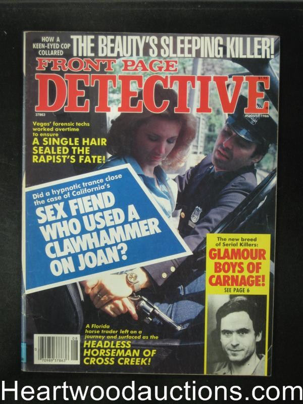 Front Page Detective Aug 1986 Bad Girl Cover