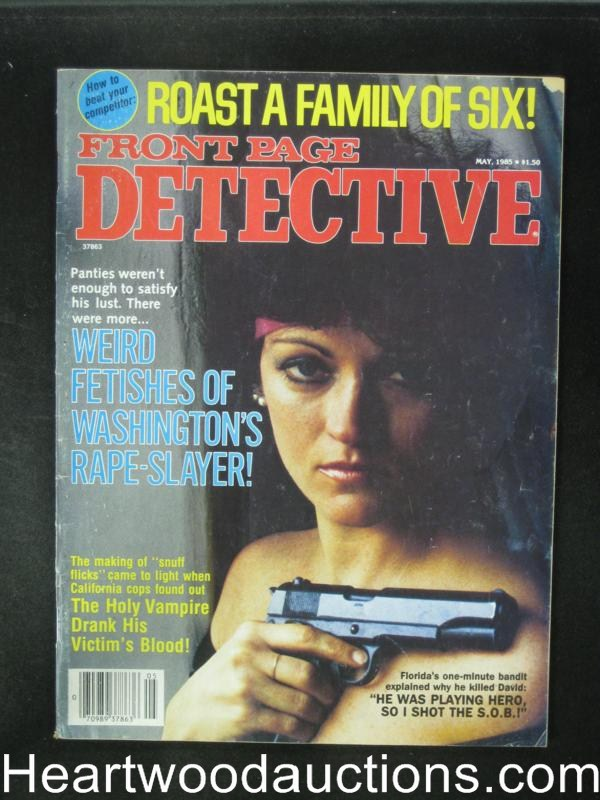 Front Page Detective May 1985 Bad Girl Cover