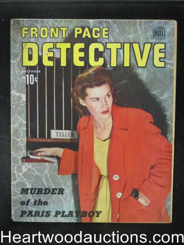 Front Page Detective Dec 1944 Murder of the Paris Playboy