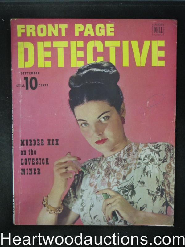 Front Page Detective Sep 1946 Hypodermic cover