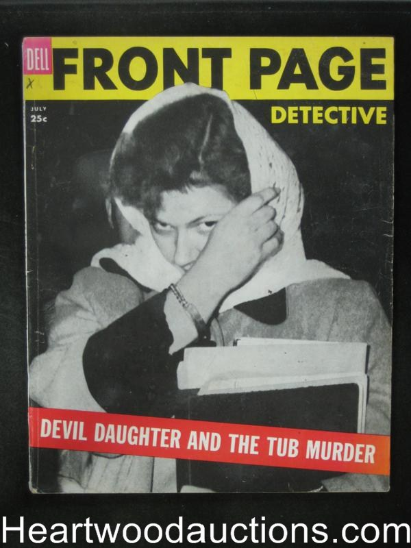 Front Page Detective Jul 1954 Ma Barker Story