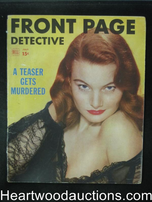 Front Page Detective Jul 1952 A Tease Gets Murdered