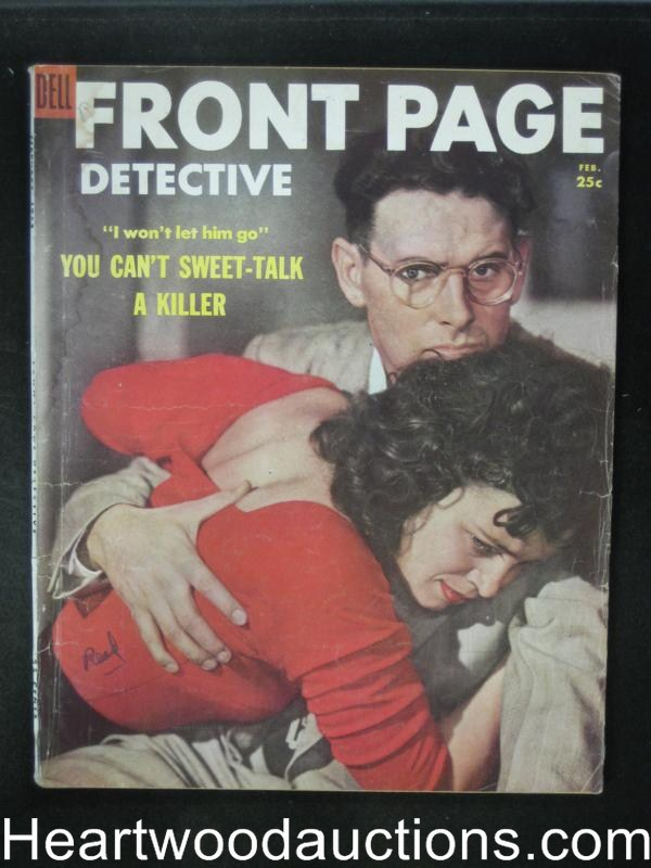 Front Page Detective Feb 1954