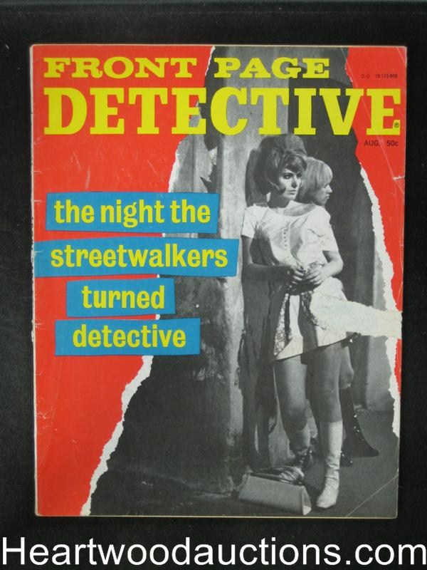 Front Page Detective Aug 1969 Streetwalkers Turned Detective