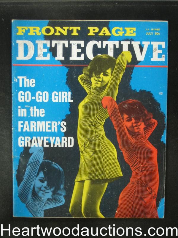 Front Page Detective Jul 1969 Go Go Girl Cover