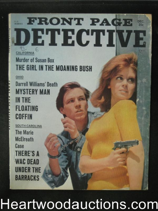 Front Page Detective Dec 1966 Bad Girl Cover