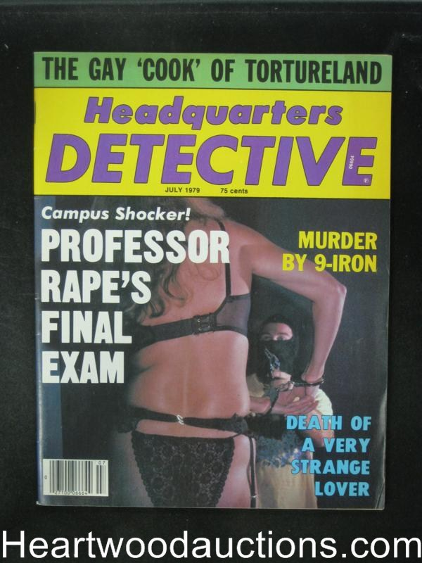 Headquarters Detective Jul 1979 Bondage Cover- High Grade