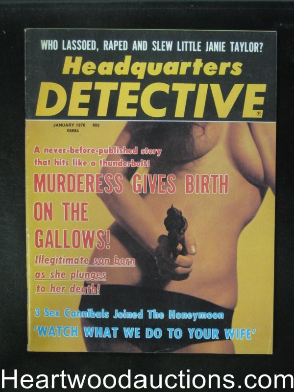 Headquarters Detective Jan 1976 Janie Taylor Murder- High Grade
