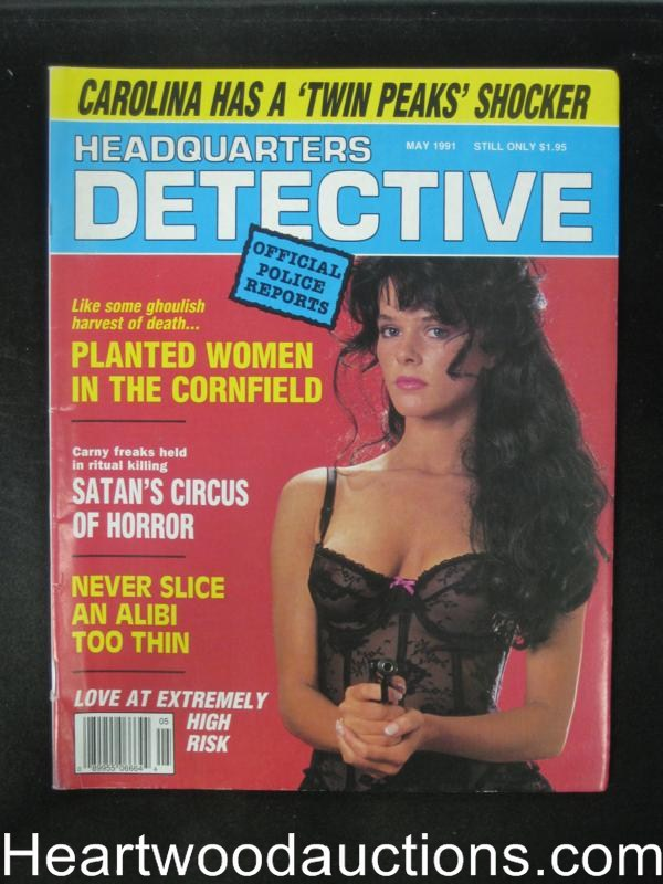Headquarters Detective May 1991 Bad Girl Cover