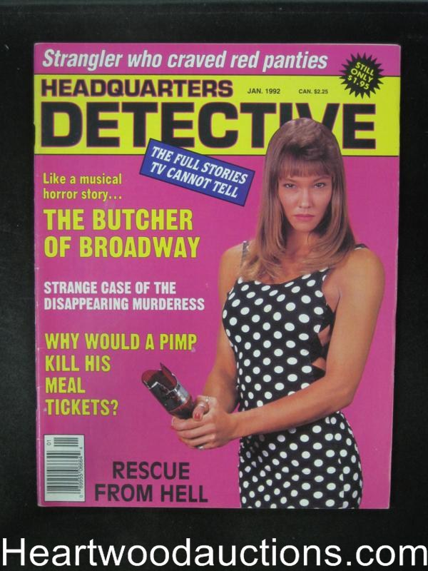 Headquarters Detective Jan 1992 Bad Girl Cover- High Grade
