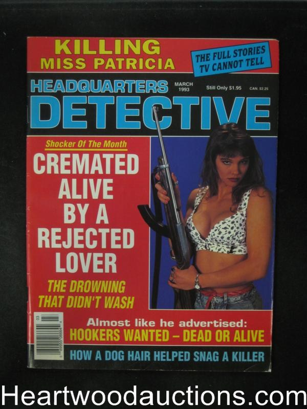 Headquarters Detective Mar 1993 Bad Girl Cover- High Grade