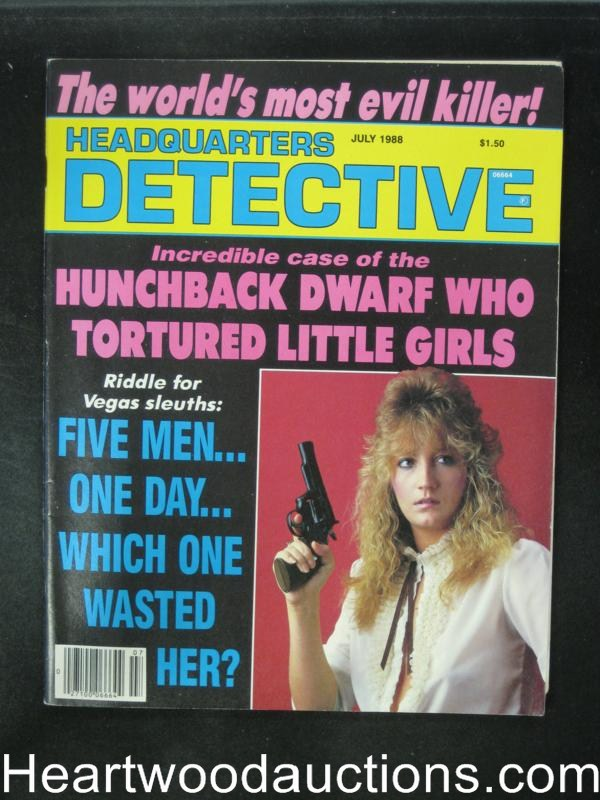 Headquarters Detective Jul 1988 Bad Girl Cover- High Grade