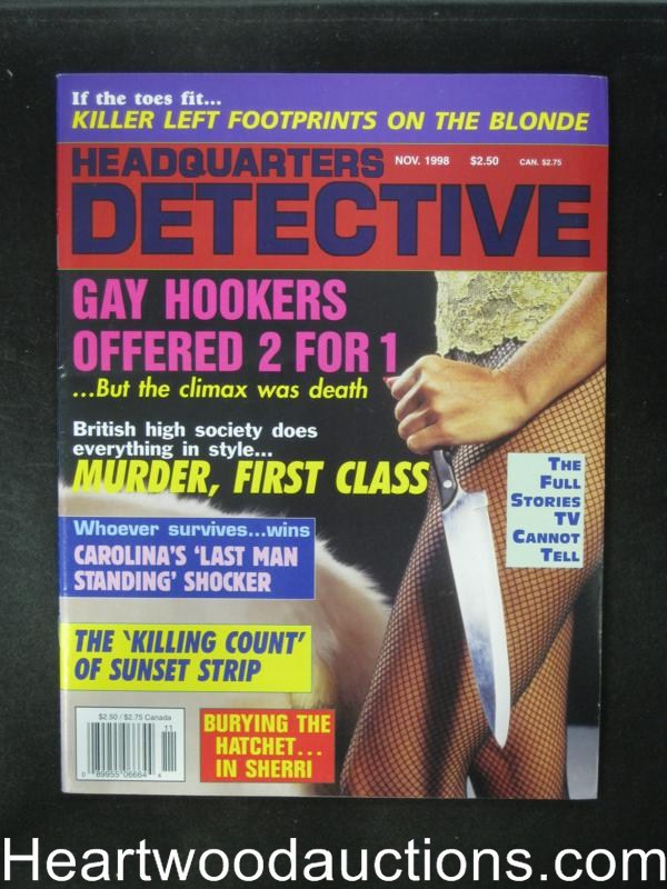 Headquarters Detective Nov 1998 Killing Count fo Sunset Strip- High Grade