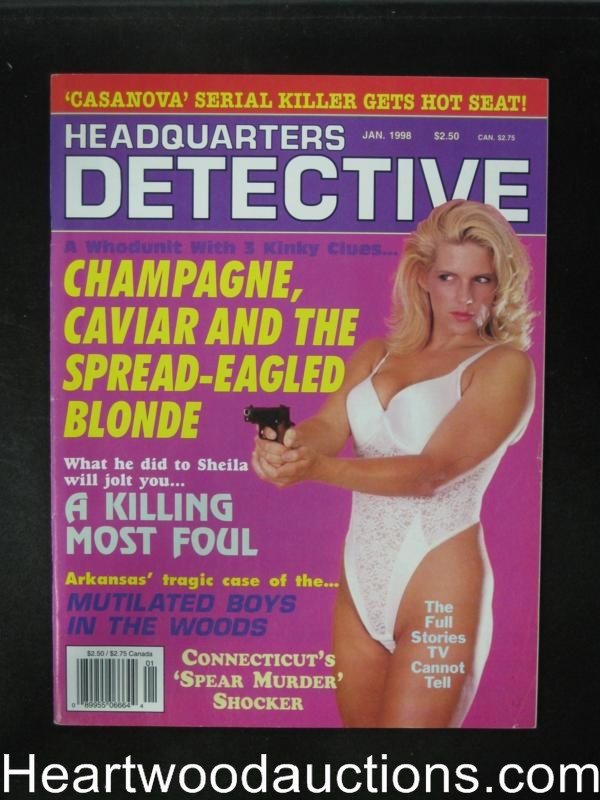 Headquarters Detective Jan 1998 Bad Girl Cover- High Grade