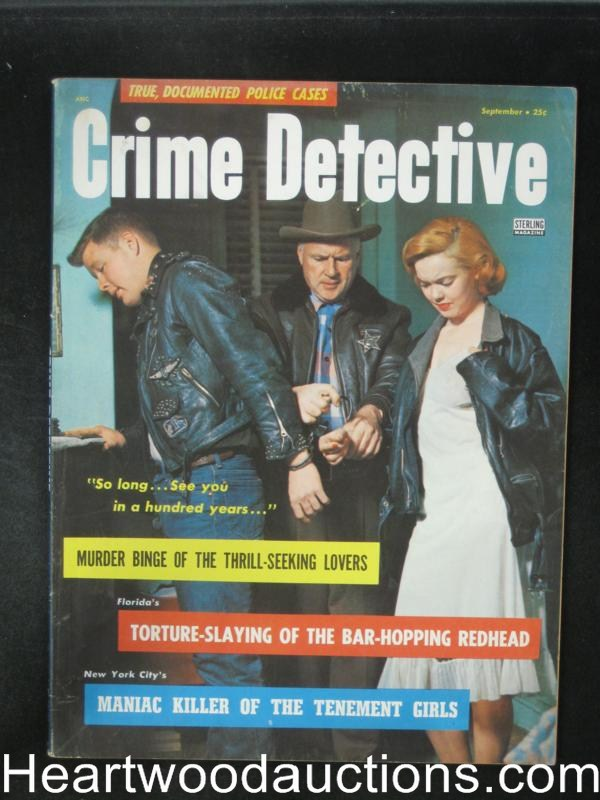 Crime Detective Sep 1956 Bad Girl Cover- High Grade