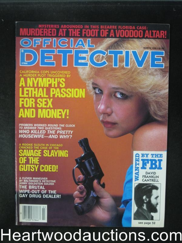 Official Detective Mar 1988 Bad Girl Cover- Ultra High Grade
