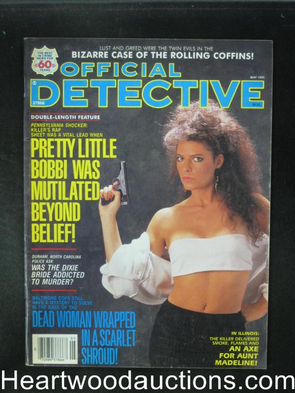 Official Detective May 1990 Bad Girl Cover