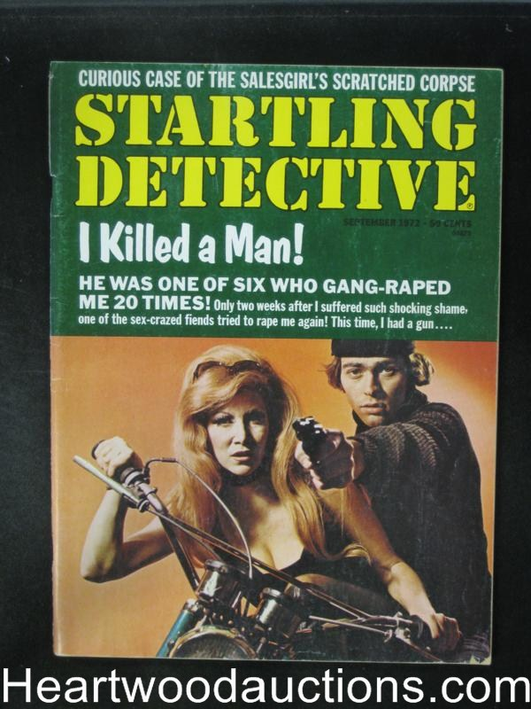 Startling Detective Sep 1972 Motorcycle Cover