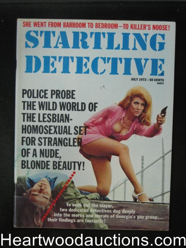 Startling Detective Jul 1972 Bad Girl Cover- High Grade