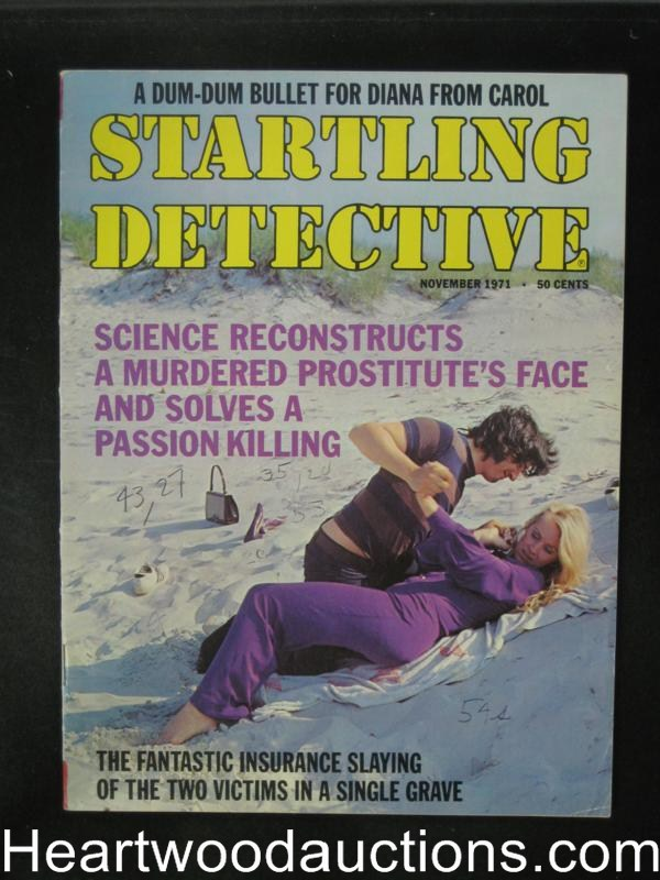 Startling Detective Nov 1971 Assault Cover- High Grade