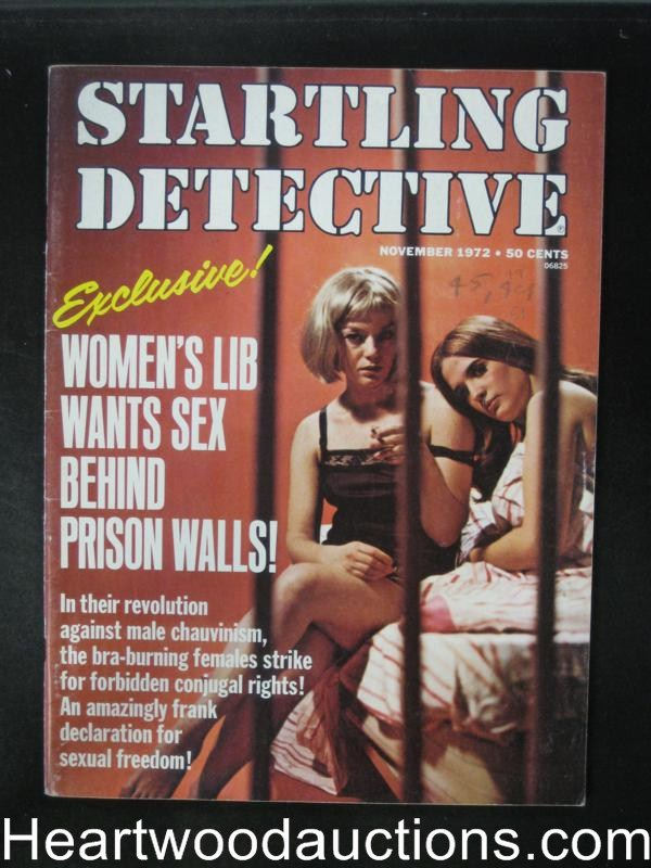 Startling Detective Nov 1972 Women in Prison Cover- High Grade