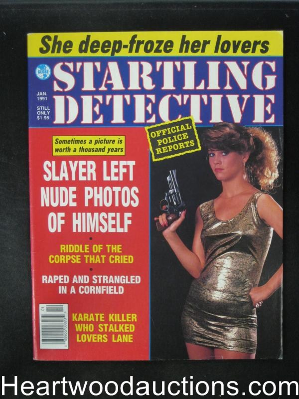 Startling Detective Jan 1991 Bad Girl Cover- Ultra High Grade