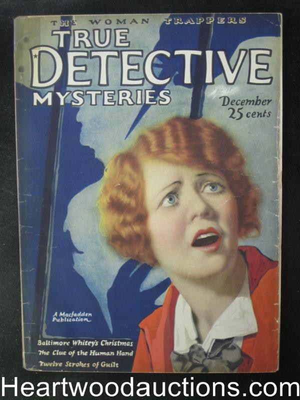 True Detective Mysteries December 1924  Oriental Menace On The Trail of Yong Wa Lo