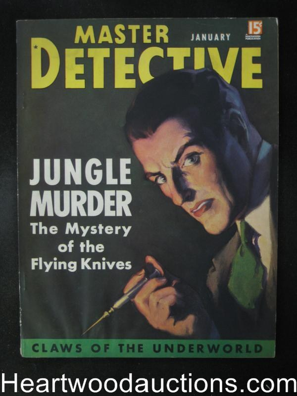 Master Detective January 1936   Hypo Cvr, Jungle Murders- High Grade