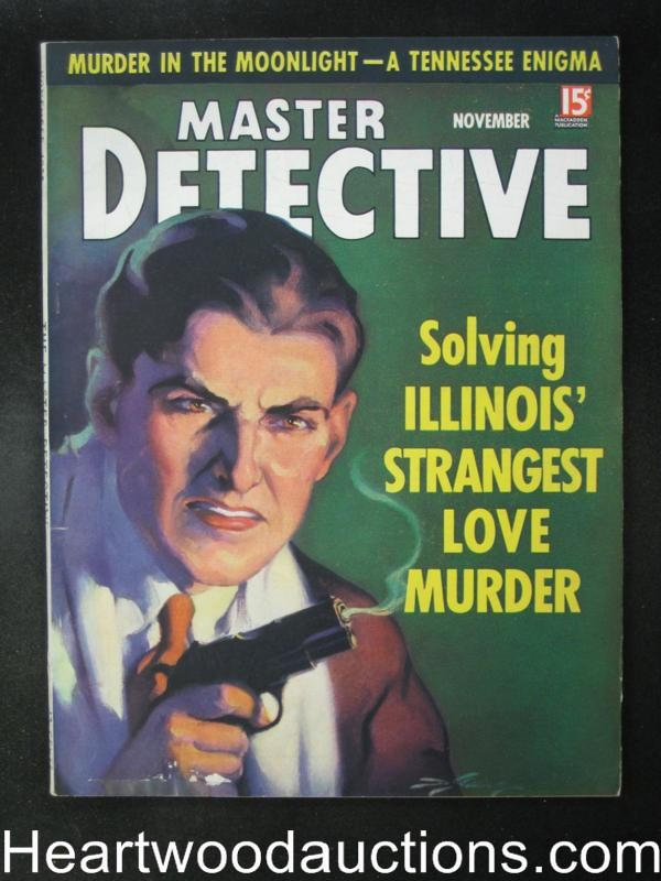 Master Detective November 1935  The McKenna Gang New York Terrorists- High Grade