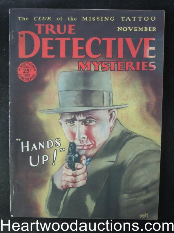 True Detective Mysteries November 1928  Black Curse of the Mafia
