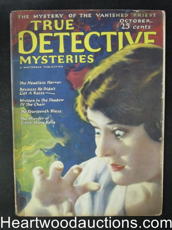 True Detective Mysteries October 1924  The Headless Horror